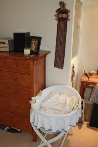 Moses basket ready for baby