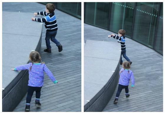 Sibling chasing