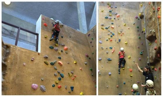 Alex climbing