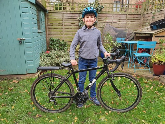 Alex with his racing bike