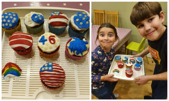USA themed cupcakes